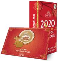 30 COTIER Chinese New Year 2020 Scratch Off Card Game - Year of the Rat Fortune Cards - Fun Activity for Lunar New Year, Happy Chinese New Year's Celebration Party, Office Party - Decorations & Favors