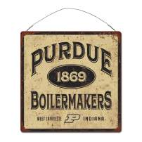 NCAA Legacy Purdue Boilermakers Large Tin Sign 12x12, One Size, Stock