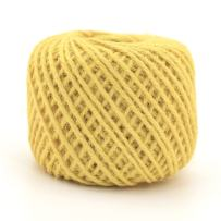 BambooMN 75 Yard, 2mm Crafty Jute Twine Thread Cord String Jute for Artworks, DIY Crafts, Gift Wrapping, Picture Display and Gardening, 3 Balls Yellow