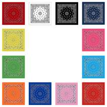 ba knife Bandanas 100% Cotton Paisley Print Head Wrap Scarf Wristband Headbands Hairscarf for Men and Women 12 Pcs