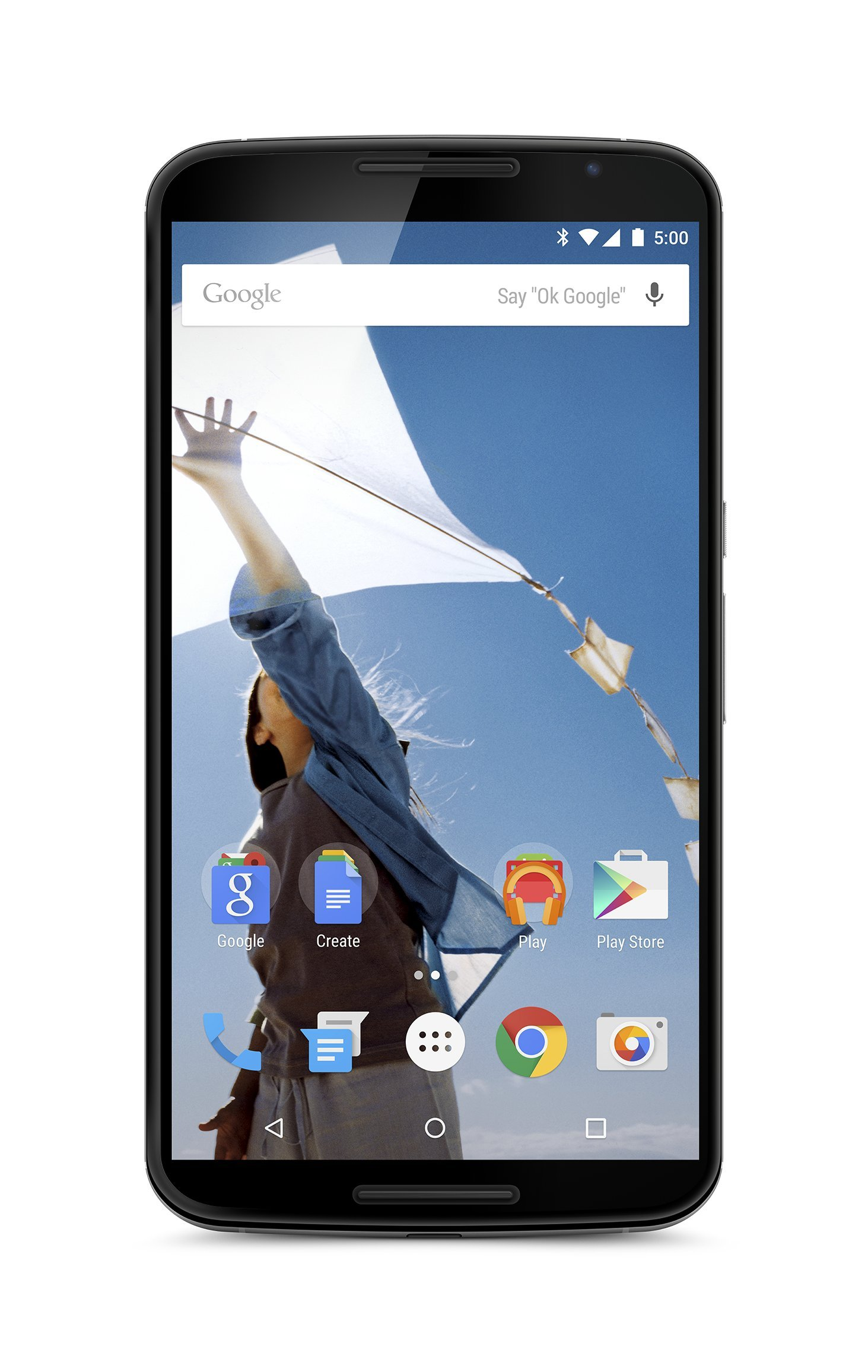 "Motorola Nexus 6 GSM Unlocked Smartphone, 32GB, 6"" Screen, Dual Front-facing Stereo Speakers - Cloud White (International Version)"