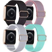 Nylon Loop Bands Compatible for Apple Watch Band 38mm 40mm 42mm 44mm, Adjustable Soft Lightweight Breathable Sports Replacement Band for Series 6 5 4 3 2 1