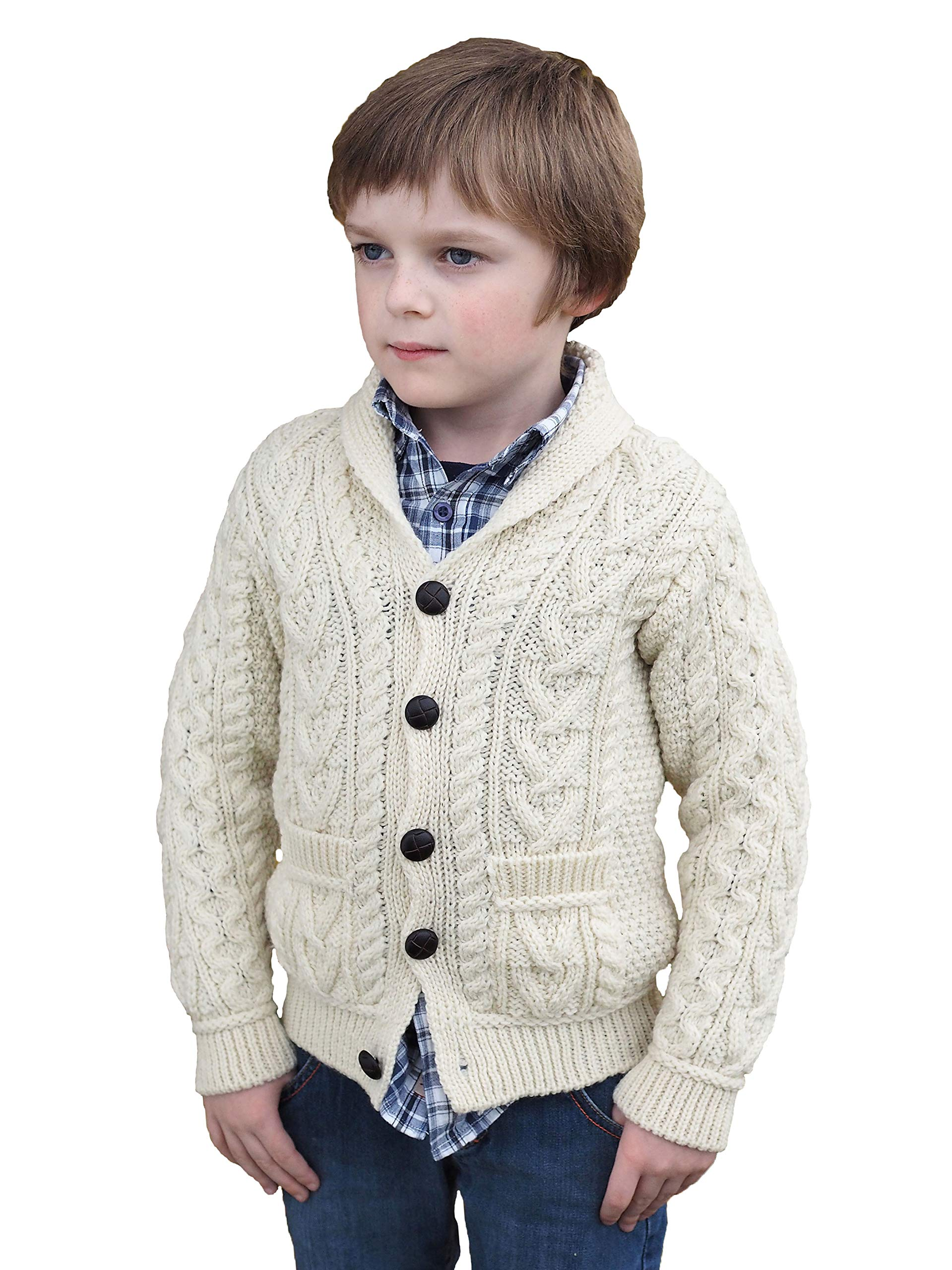 Aran Crafts Child Crew Neck Sweater 100/% Merino Wool