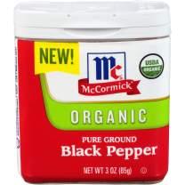 McCormick Ground Organic Black Pepper, 3 oz