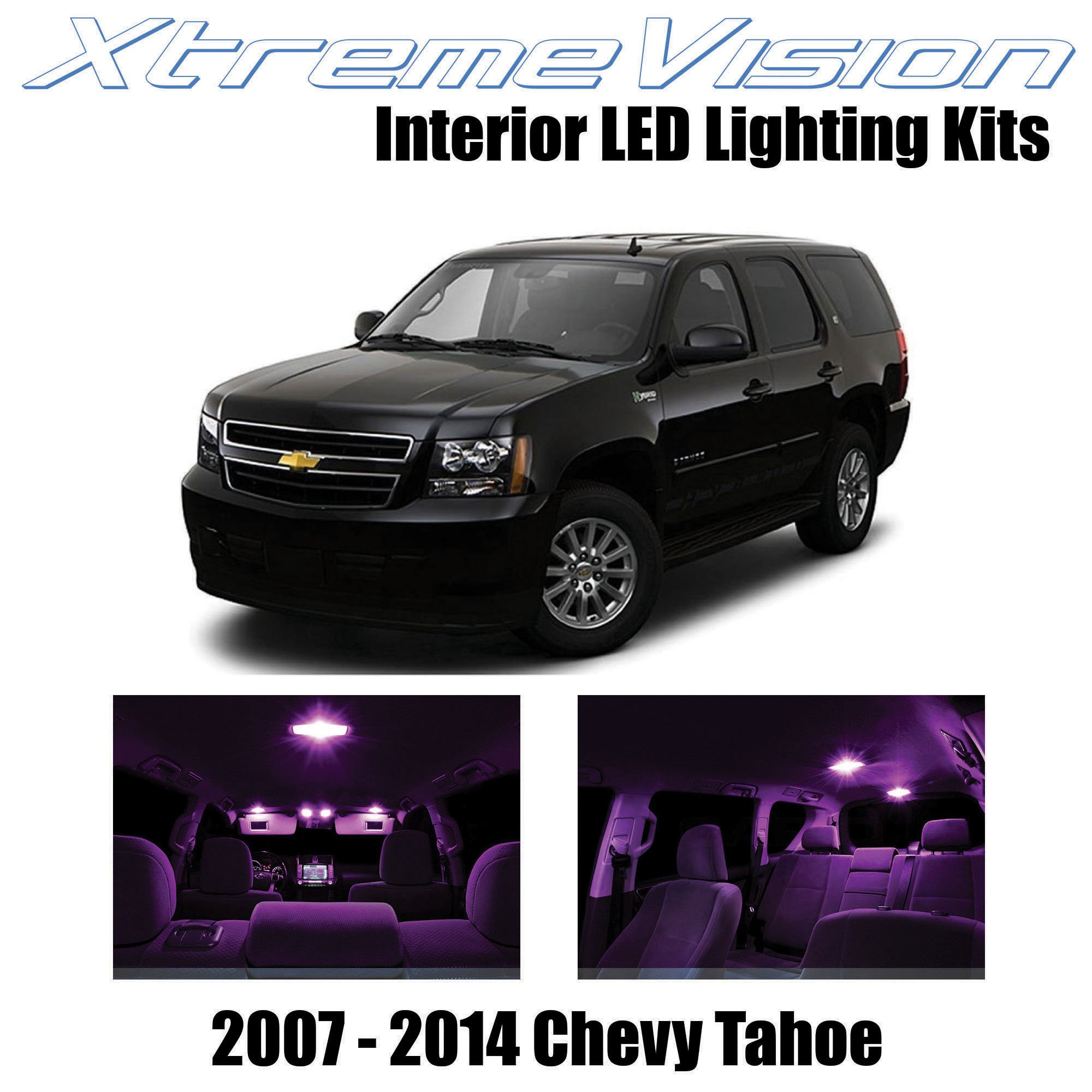 Xtremevision Interior Led For Chevy Tahoe 2007 2014 12 Pieces Pink Interior Led Kit Installation Tool