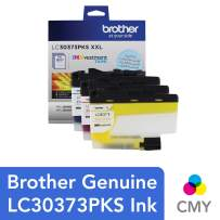 Brother Genuine LC30373PKS, 3-Pack Super High-Yield Color INKvestment Tank Ink Cartridges, Includes 1 Cartridge Each of Cyan, Magenta and Yellow Ink, Page Yield Up to 1,500 Pages/Cartridge, LC3037