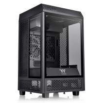 Thermaltake Tower 100 Black Edition Tempered Glass Type-C (USB 3.1 Gen 2) Mini Tower Computer Chassis Supports Mini-ITX CA-1R3-00S1WN-00