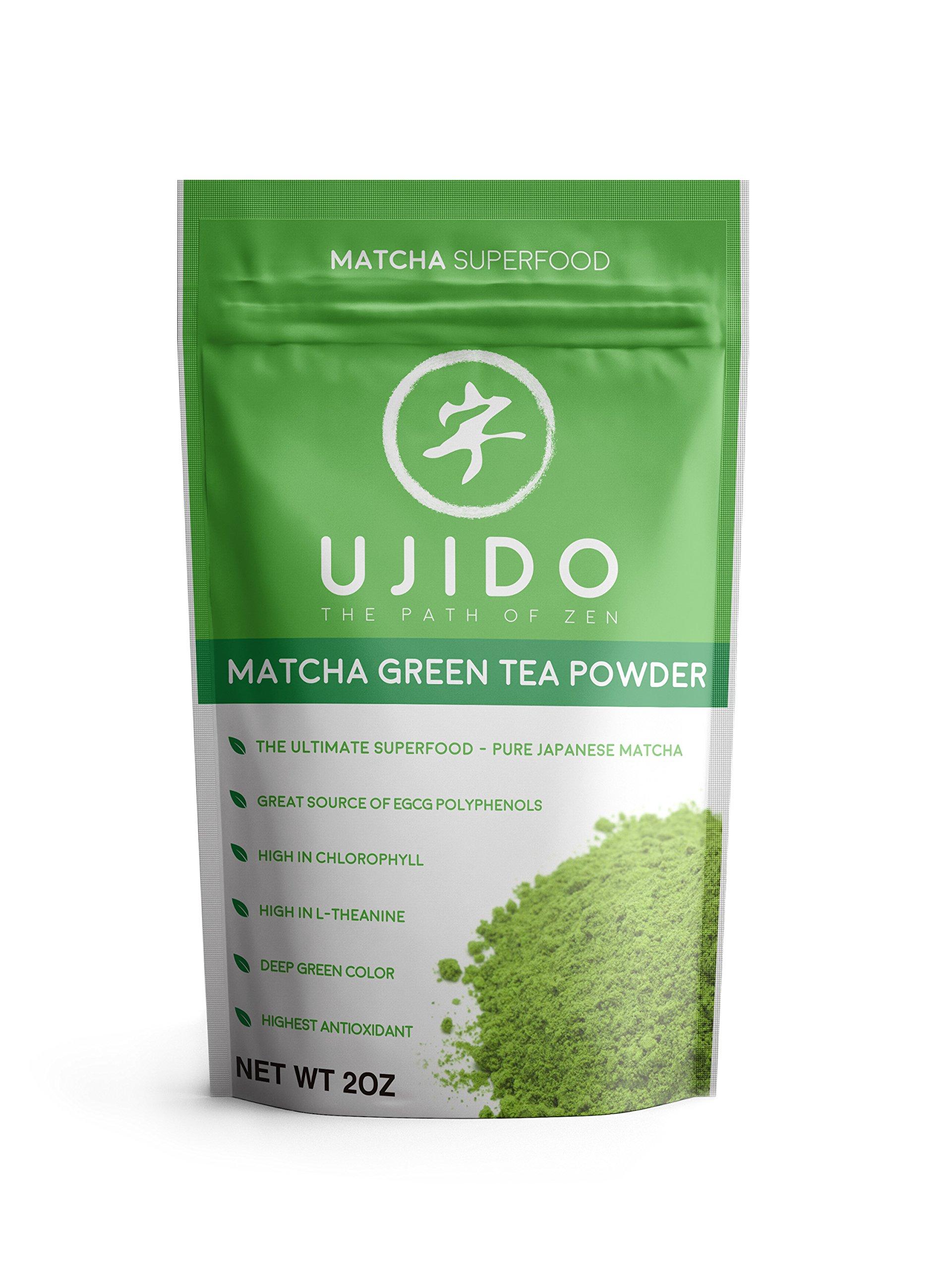Ujido Japanese Matcha Green Tea Powder - Packaged in Japan (2 oz)