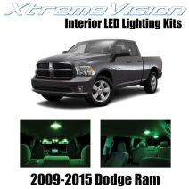Xtremevision Interior LED for Dodge Ram 2009-2015 (6 Pieces) Green Interior LED Kit + Installation Tool