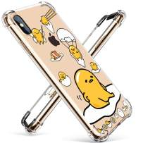 """Coralogo for iPhone Xs Max TPU Case, 3D Cute Cartoon Funny Stylish Design Character Protective Unique Chic Kawaii Fashion Fun Cool Cover Skin Teens Kids Girls Cases for iPhone Xs Max 5.5"""" (Lazy Egg"""