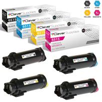 CS Compatible Toner Cartridge Replacement for Xerox Phaser 6510/WorkCentre 6515 106R03480 Black 106R03477 Cyan 106R03478 Magenta 106R03479 Yellow 4 Color Set
