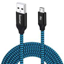 Micro USB Charger Cable, [15 Ft] Durable Extra Long USB 2.0 Charge Cord Compatible for Android/Windows/Smartphones/Samsung/HTC/Motorola/Nokia/LG/Tablet and More(Blue)