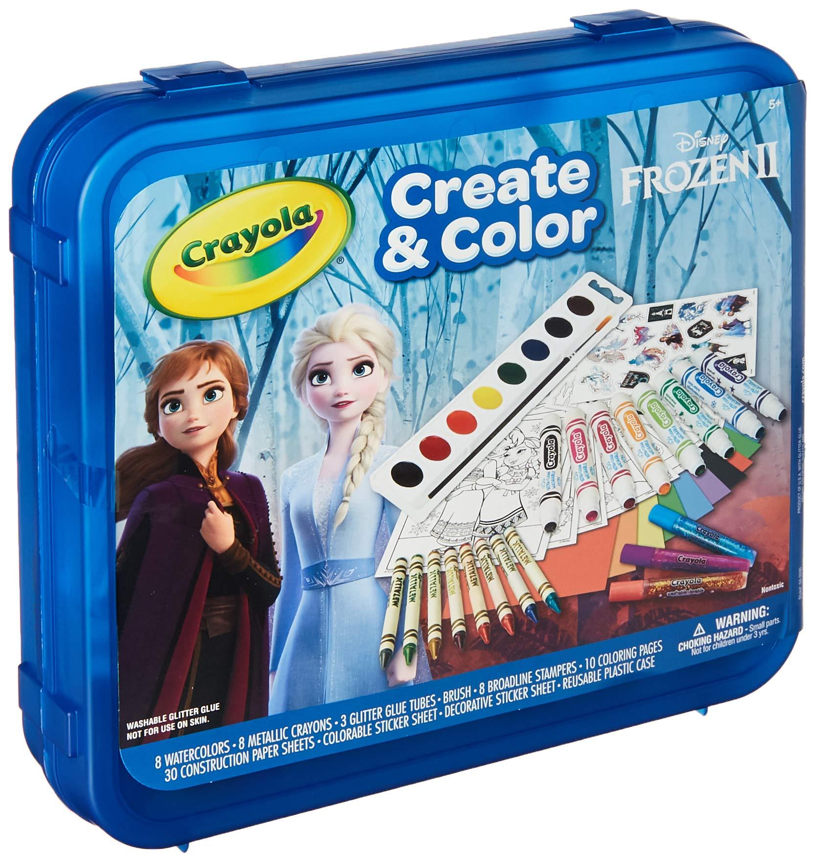 Crayola Frozen 2 Art Set, Arts & Crafts, Gift for Kids, Ages 5, 6, 7, 8
