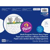 """Pacon Multi-Program Picture Story Paper, 12""""X9"""", D'Nealian (1, 2 & 3) and Zaner-Bloser (2&3),  500 Sheets"""