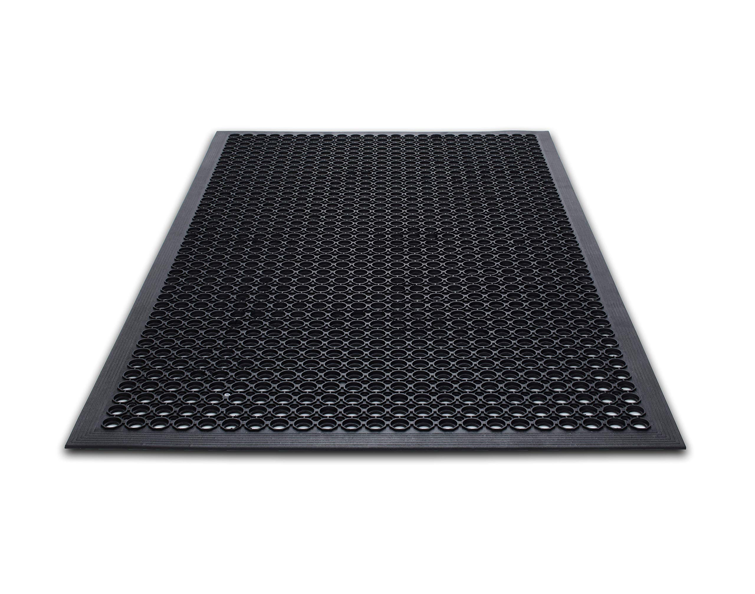 Guardian Safety Chef Food Service Floor Mat, Rubber, 3'x5', Black