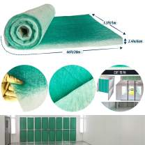 Paint Collection Spray Booth Fiberglass Filter Roll 3.3Ft x 66Ft x 2.5In (Cut to fit) New Fiberglass Spray Booth Exhaust roll Filter