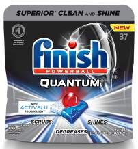 Finish - Quantum with Activblu technology - 37ct - Dishwasher Detergent - Powerball - Ultimate Clean and Shine - Dishwashing Tablets - Dish Tabs