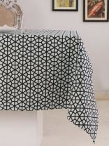 Table Cloth, 100% Cotton, Rectangular Table Cloth of Size 60X84 Inch, Eco - Friendly & Safe, Black Hive Design for Kitchen