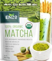 Matcha Green Tea Powder 4oz - Organic Vegan Milky Taste USDA Certified - 137x Antioxidants Over Brewed Green Tea- Great for Matcha Latte, Smoothies, Ice Cream and Baking + Alter