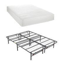 Classic Brands Advantage Individually Wrapped Coils Innerspring 8-Inch Firm Mattress withHercules Heavy-Duty 14-Inch Platform Metal Bed Frame, Queen