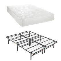 Classic Brands Advantage Individually Wrapped Coils Innerspring 8-Inch Firm Mattress withHercules Heavy-Duty 14-Inch Platform Metal Bed Frame, Twin