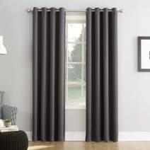 """Sun Zero Easton Blackout Energy Efficient Grommet Curtain Panel, 54"""" x 95"""", Charcoal Gray"""