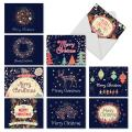 10 Assorted 'Festive Florals' Merry Christmas Cards with Envelopes 4 x 5.12 inch, Blank Note Cards with Flowers and Seasonal Designs, Holiday Stationery for Kids, Adults, Coworkers M2936XSB