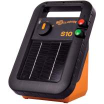Gallagher S10 Solar Electric Fence Charger | Powers Up to 3 Mile / 15 Acres of Fence | Low Impedance, 0.1 Stored Joule Energizer | Unique Battery Saving Technology | Portable and Super Tough