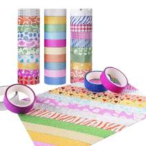 Candygirl Washi Tape Set of 30 Rolls - Girls Favorite, Great for Arts and Crafts, DIY, Scrapbook Decorative, Creative, Re-positional, Multi-Purpose, Masking Tape.