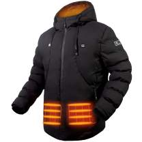 JS LifeStyle Heated Jacket, Heated Jackets for Men Thickened Down with Battery Pack Included Rechargeable Up to 10 Hours