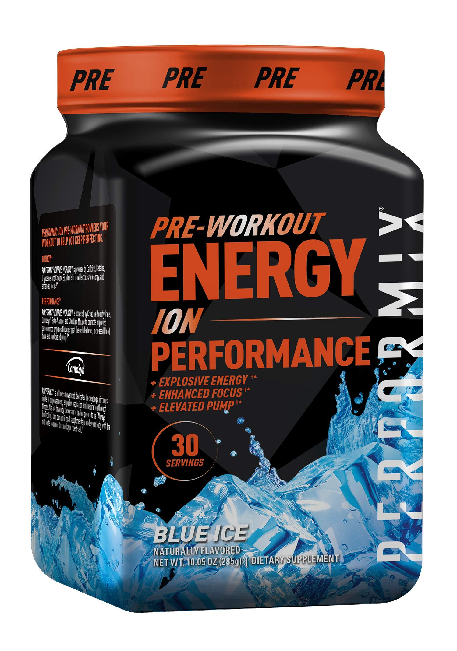 Performix ION Pre-Workout Powder, Explosive Energy, Enhanced Focus, Elevated Pump (30 Servings, Blue Ice)