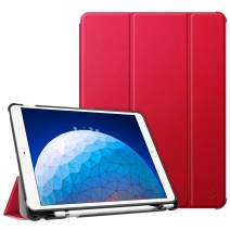 "Fintie Case for iPad Air (3rd Gen) 10.5"" 2019 / iPad Pro 10.5"" 2017 - [SlimShell] Ultra Lightweight Standing Protective Cover with Built-in Pencil Holder, Auto Wake/Sleep (Red)"