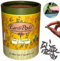 EarthPods Premium Herb & Vegetable Plant Food – Easy Organic Fertilizer Spikes – 100 Capsules – Stimulates Root & Leaf Growth (Great for Herb & Lettuce Garden, No Urea, Ecofriendly)