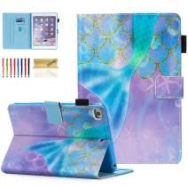 iPad Mini Case, Dteck Slim Fit Smart Premium PU Leather Multiple Viewing Folio Stand Wallet Cover with Auto Wake/Sleep for Apple iPad Mini 2/Mini 3/Mini 4/Mini 5, Beautiful Mermaid