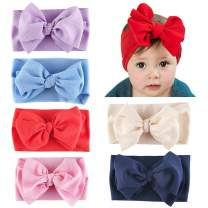 Langwolf Baby Girl Nylon Knotted Headbands Newborn Infant Toddler Hairbands and Bows Child Hair Accessories…