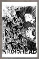 "Trends International Radiohead - Scribble Wall Poster, 14.725"" x 22.375"", Barnwood Framed Version"