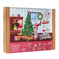 Christmas Crafts for Kids | 6 Chunky Craft Projects | Includes Ornaments, Stockings, Wreath, Advent Calendar, Photo Buntings | Best Gift for Girls and Boys Ages 5 6 7 8 9 10 Years