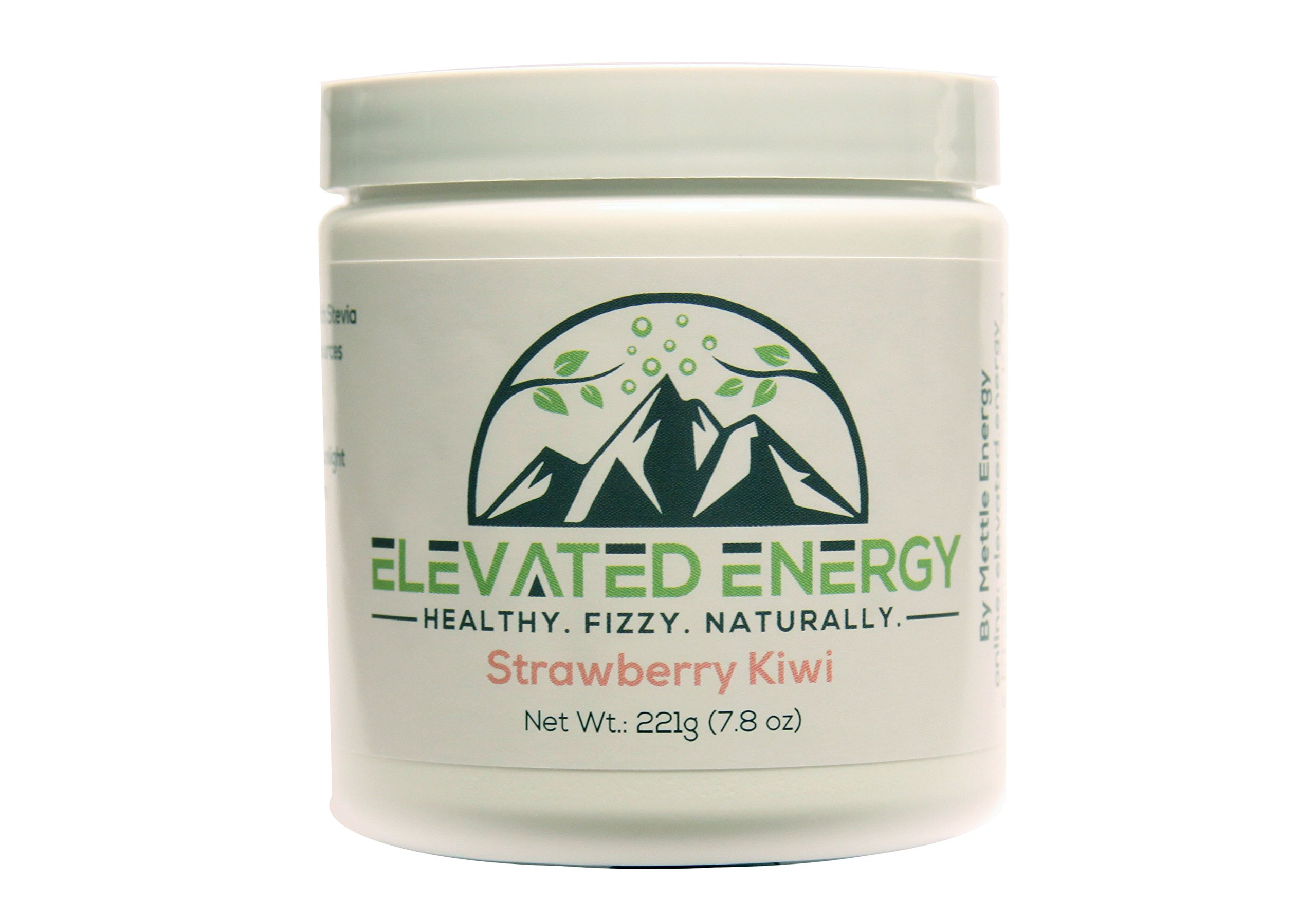 Healthy Energy Drink Powder - Stevia & Natural Caffeine | Elevated Energy Fizzy Drink Mix | Strawberry Kiwi | 30 Servings