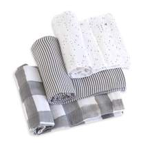 Burt's Bees Baby - Swaddles, Muslin Cotton Baby Blankets, 3-Pack, Multipurpose Lightweight & Breathable 100% Organic Cotton (Starry Eyes)