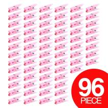 Adorox (Pink (96 Pieces) Small Clothes Pins Baby Shower Clothespin Favors Pink Girl Blue Boy Party Game