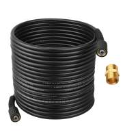 M MINGLE Pressure Washer Hose 50 Feet X 1/4 Inch for Most Brands, Compatible M22 14mm and M22 15mm, 3600 PSI