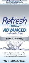 Refresh Optive Advanced Lubricant Eye Drops, 0.33 Fl Oz (1 Count) (10mL) Sterile