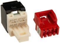 Panduit CJ5E88TBL Category-5E 8-Wire T-Style Jack Module, Black