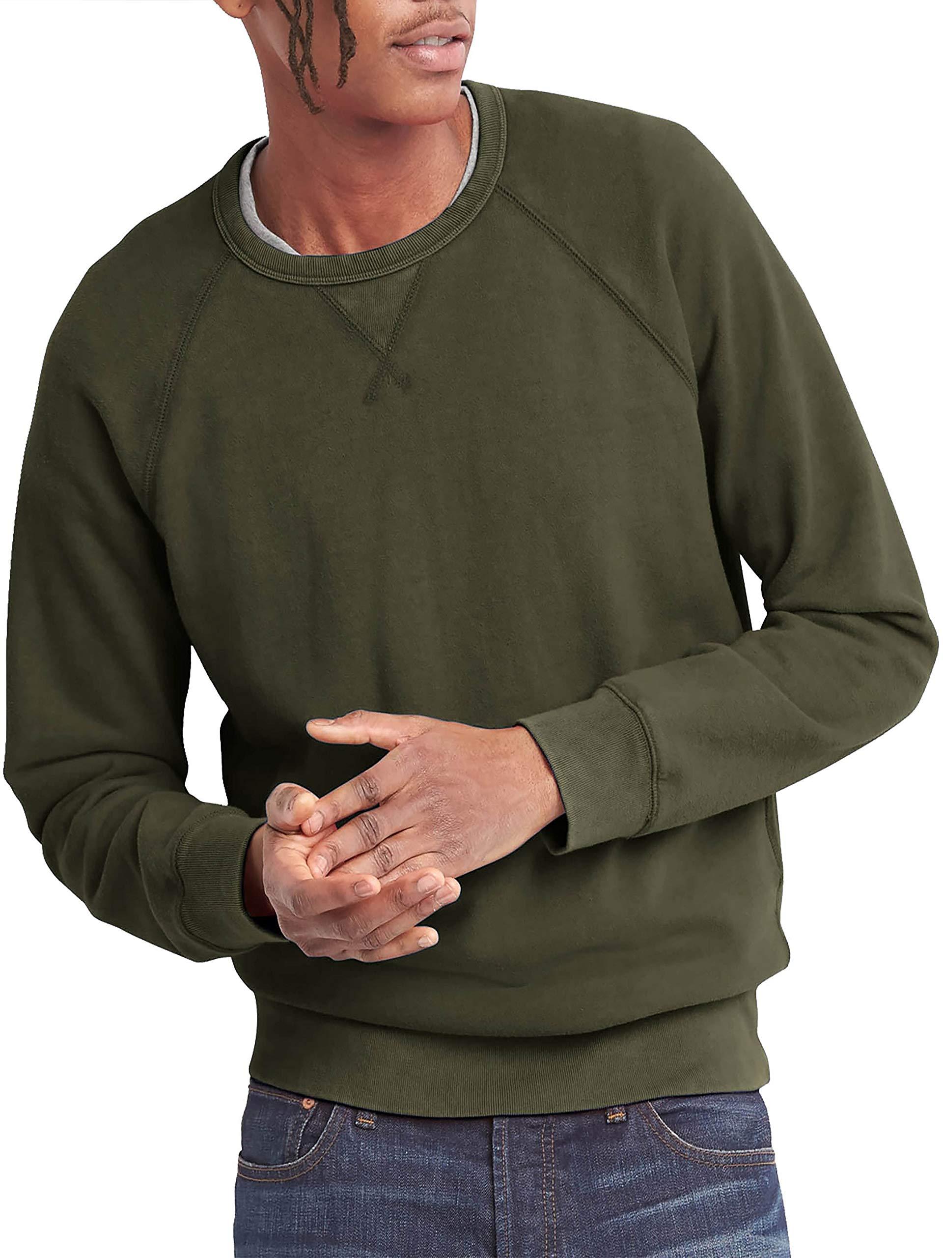 Hat and Beyond Mens French Terry Crewneck Sweatshirt Lightweight Fleece Pullover Sweater