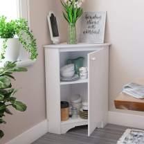 Prepac Elite Corner Storage Cabinet, Elite Corner Storage Cabinet, White