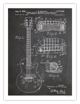 Gibson Les Paul Guitar Poster Blackboard Us Patent Poster Print Vintage Reproduction Gift 1955 Unframed (18 X 24)