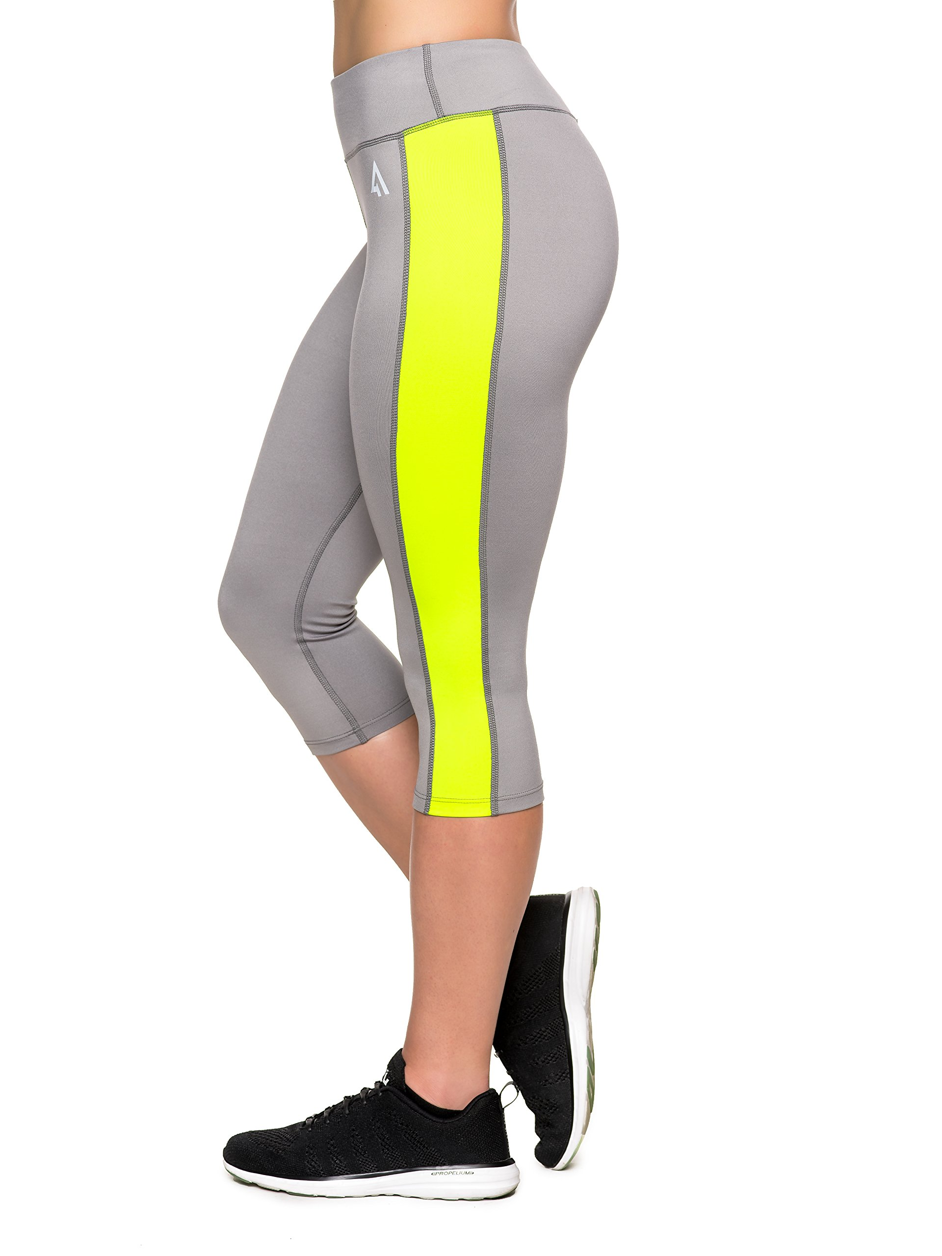 Active1st Women's Yoga Pants Sport Leggings – High Waist, Capri, Tagless
