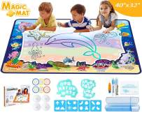 WINWONBRA Aqua Magic Doodle Mat 40 X 32 Inches Extra Large Water Drawing Doodle Mat Coloring Mat, Educational STEM Toys and Ideal Gifts for Toddlers Boys, Girls Toys Age of 2 3 4 5 6 7 8 Up