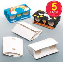Design Your Own Binoculars for Children to Make & Decorate - Creative Kids Craft Set (Pack of 5)