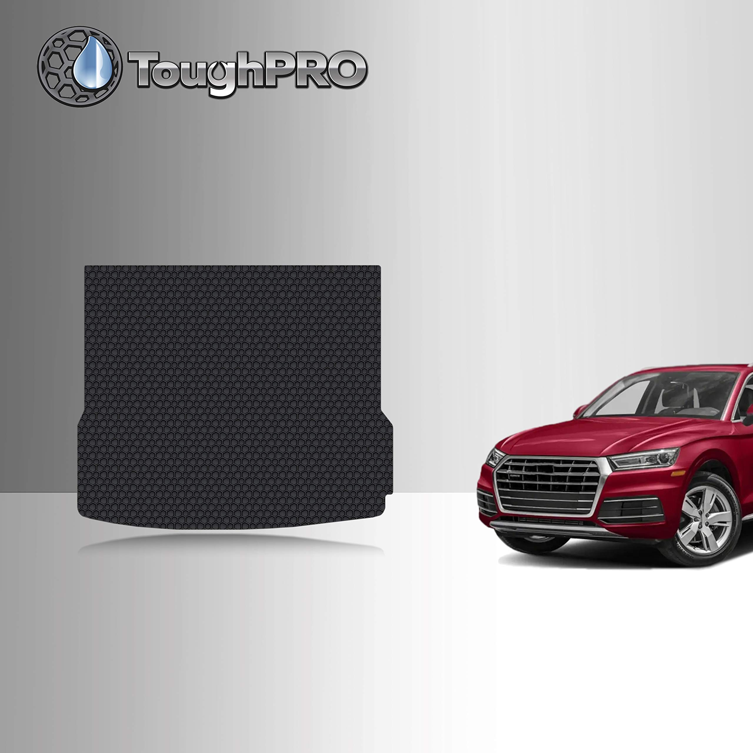 TOUGHPRO Cargo/Trunk Mat Accessories Compatible with Audi Q5 - All Weather - Heavy Duty - (Made in USA) - Black Rubber - 2009, 2010, 2011, 2012, 2013, 2014, 2015, 2016, 2017